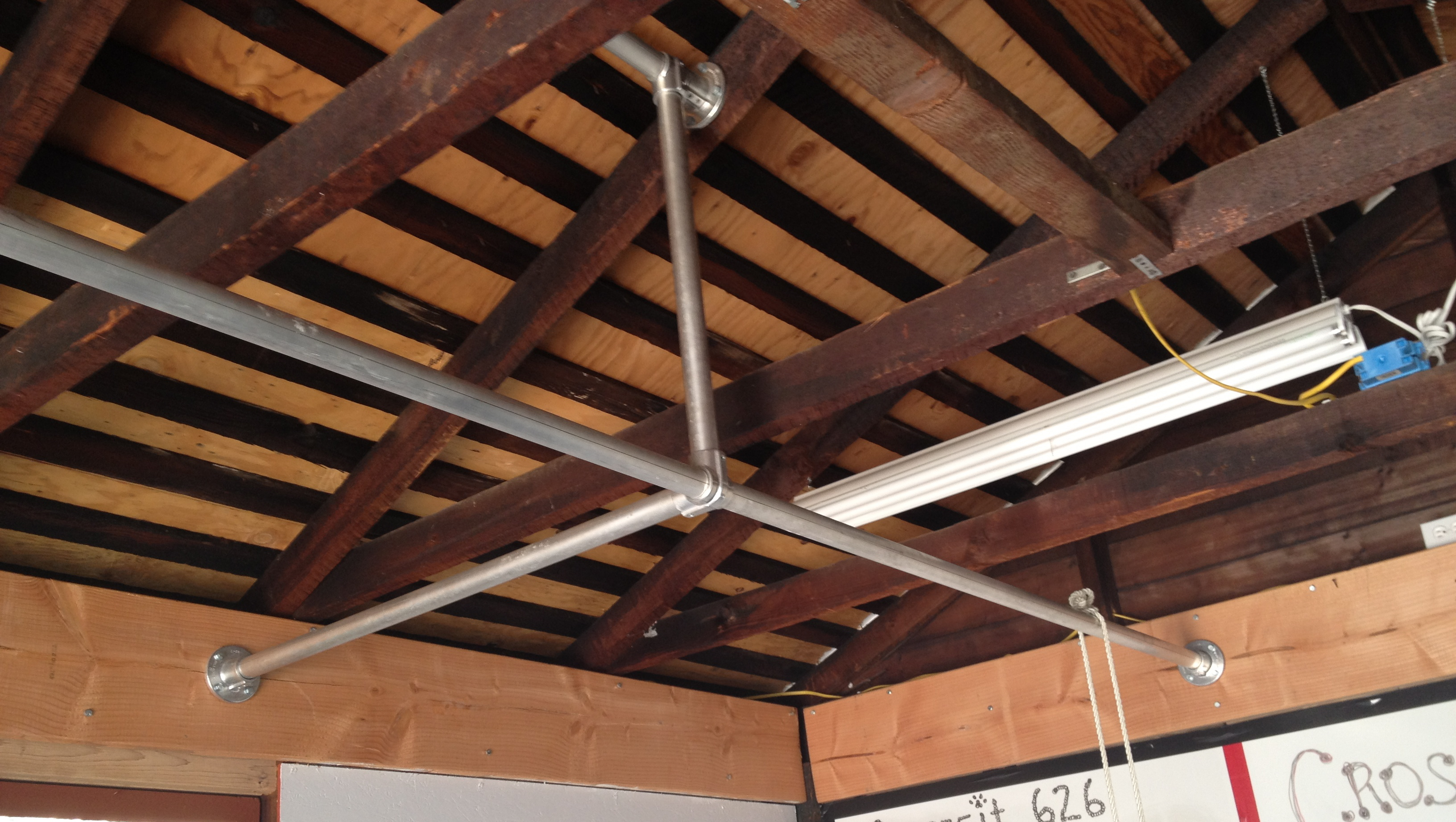 ... build out of the original CrossFit 626 garage bar. homemade crossfit rig