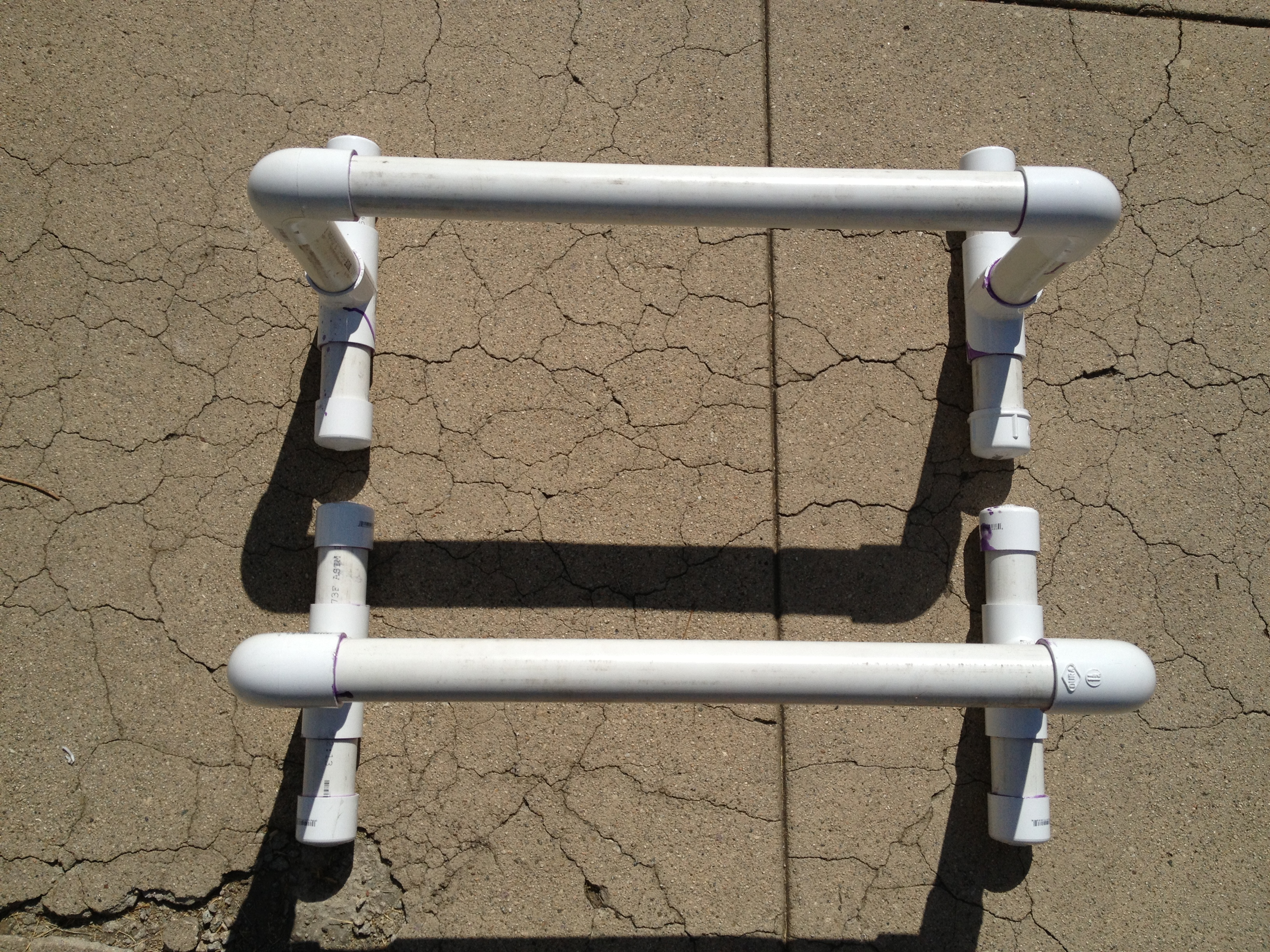 Homemade PVC Parallettes